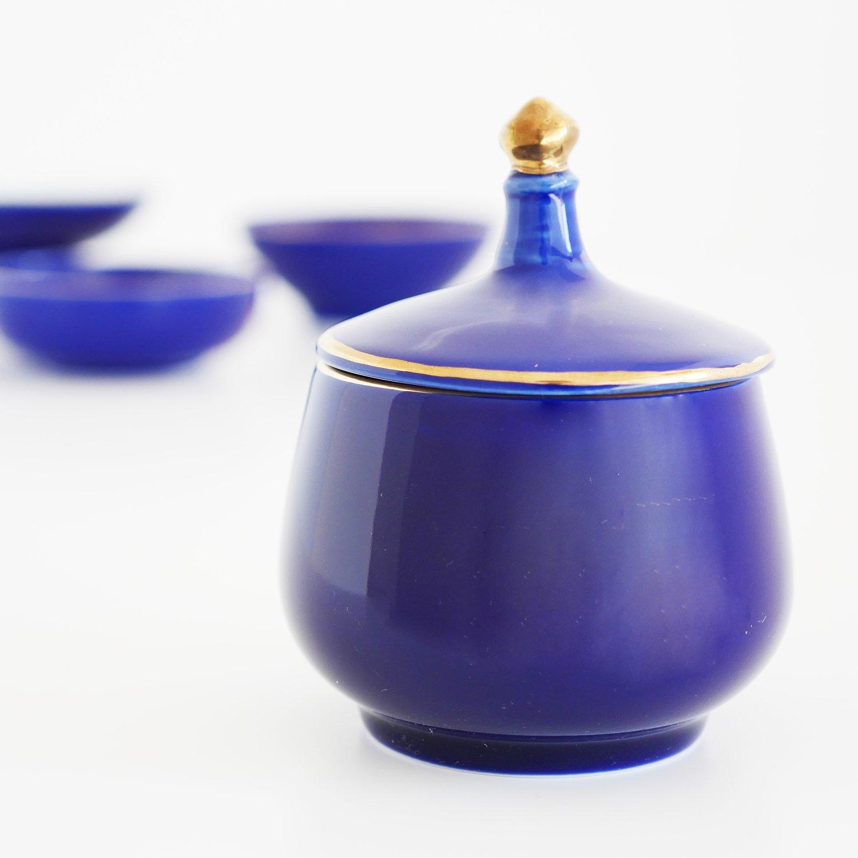 Royal blue Porselein