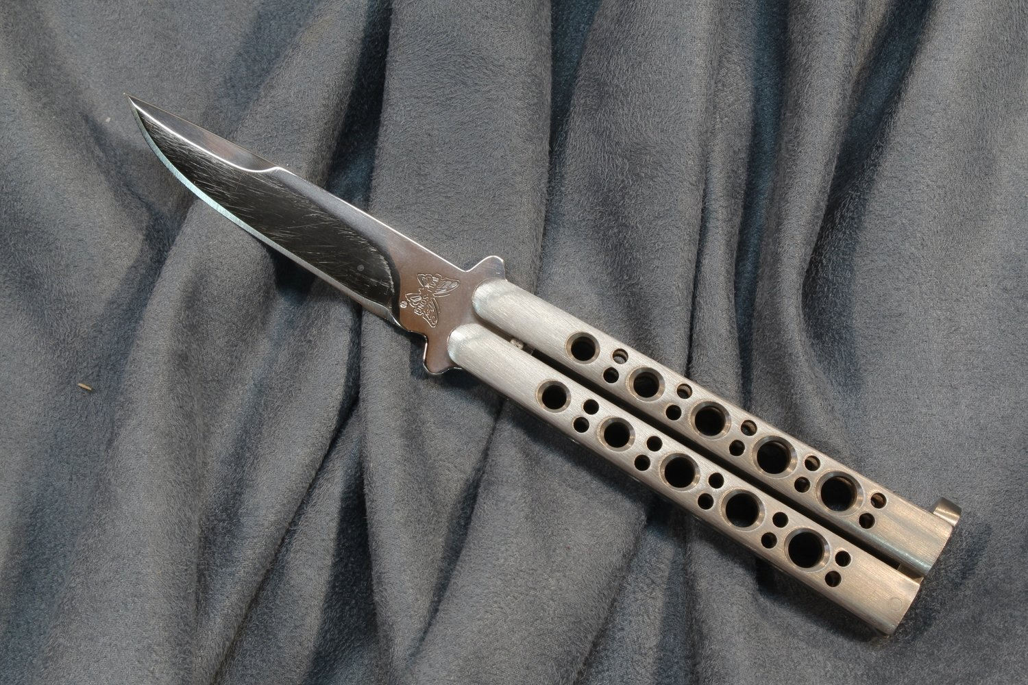 Benchmade Balisong 35 3 5 Butterfly Knife Satin Pre Owned