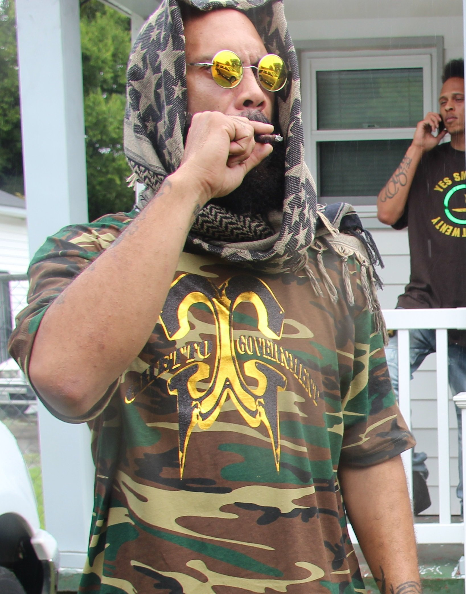 Camoflauge Ghetto Government T-Shirt