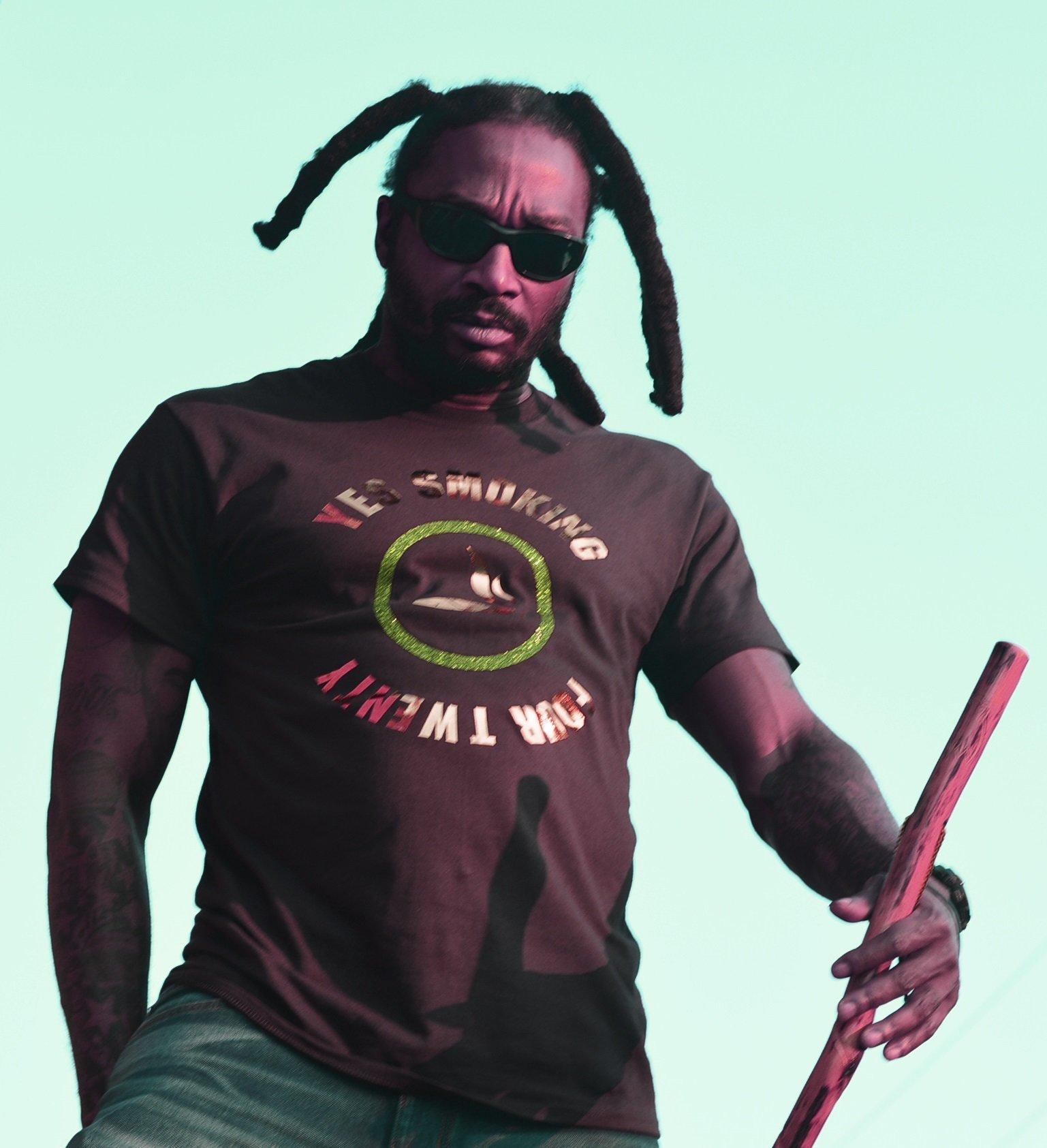 Brown Sports Yes Smoking 420 T-Shirt 00010