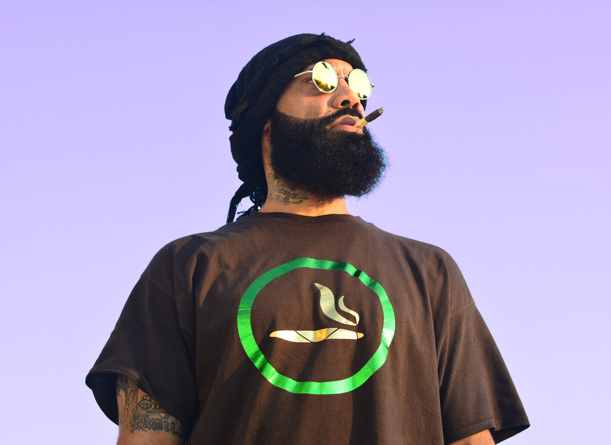 Brown Yes Smoking  420 T-Shirt All Foil Logo 00012