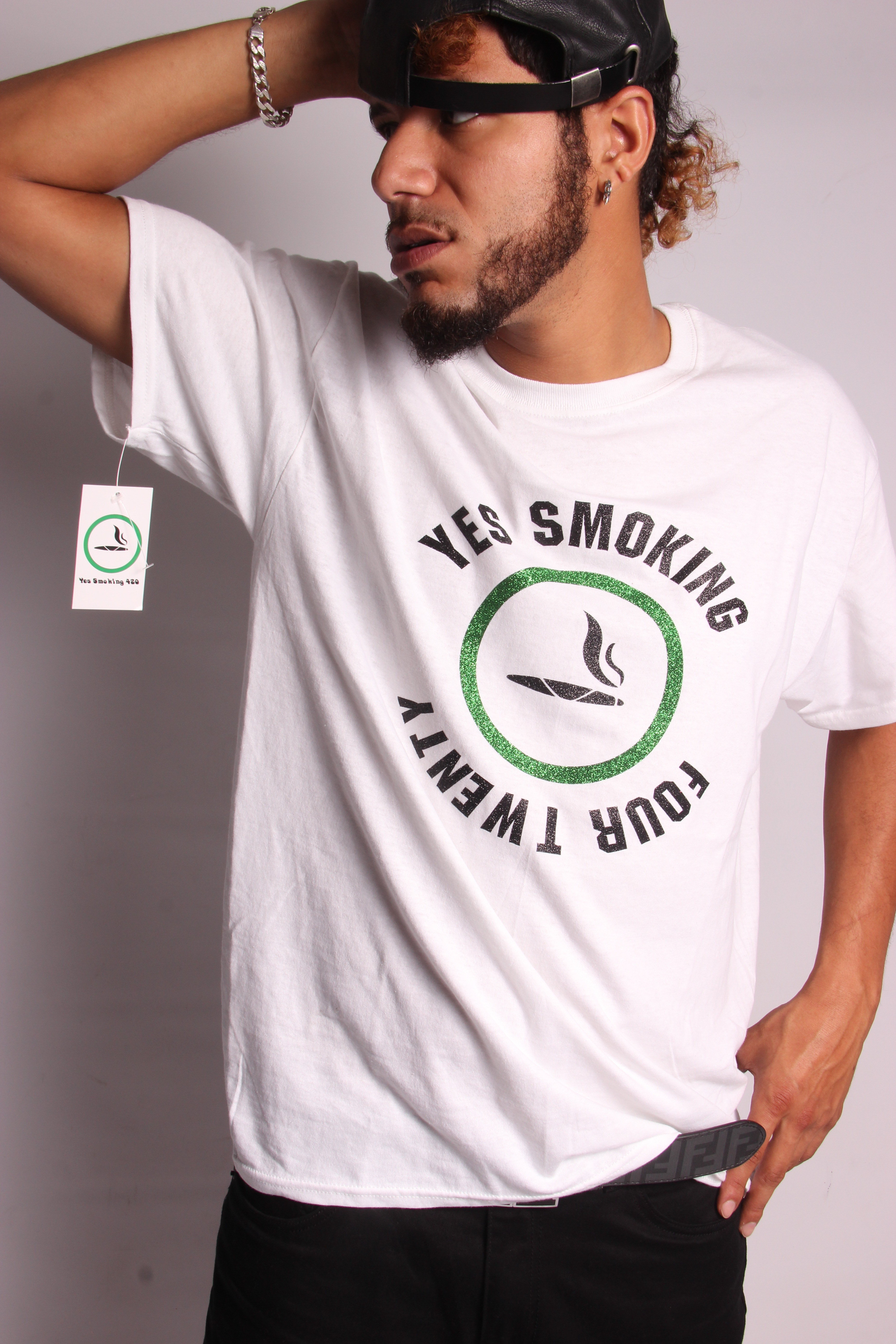 Yes Smoking 420™ wht/sports Tee 00014