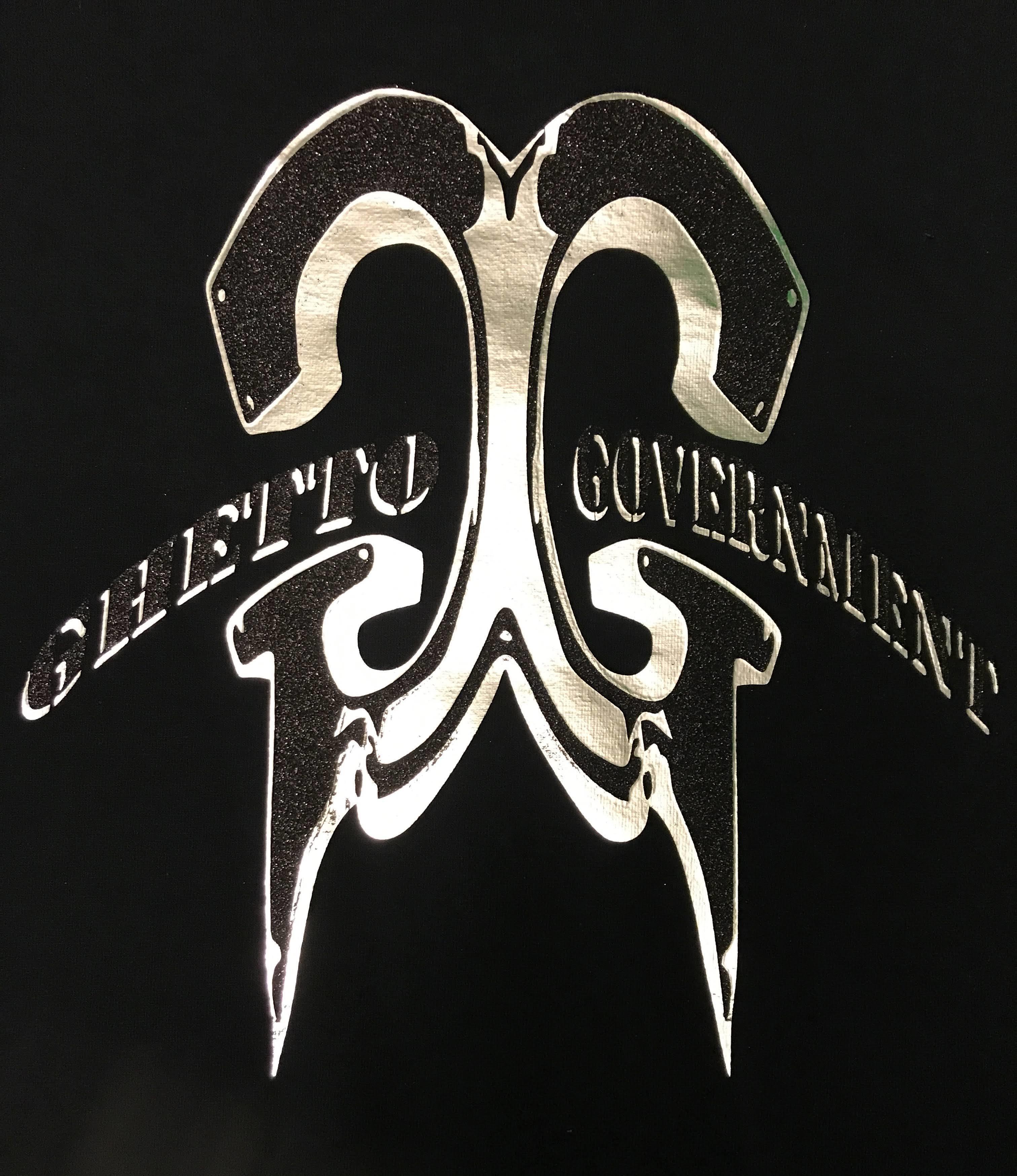 Ghetto Government  Tee Sil/Blk Logo 00019