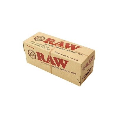 raw unrefined parchment paper - display 12 boxes 10cmx4m