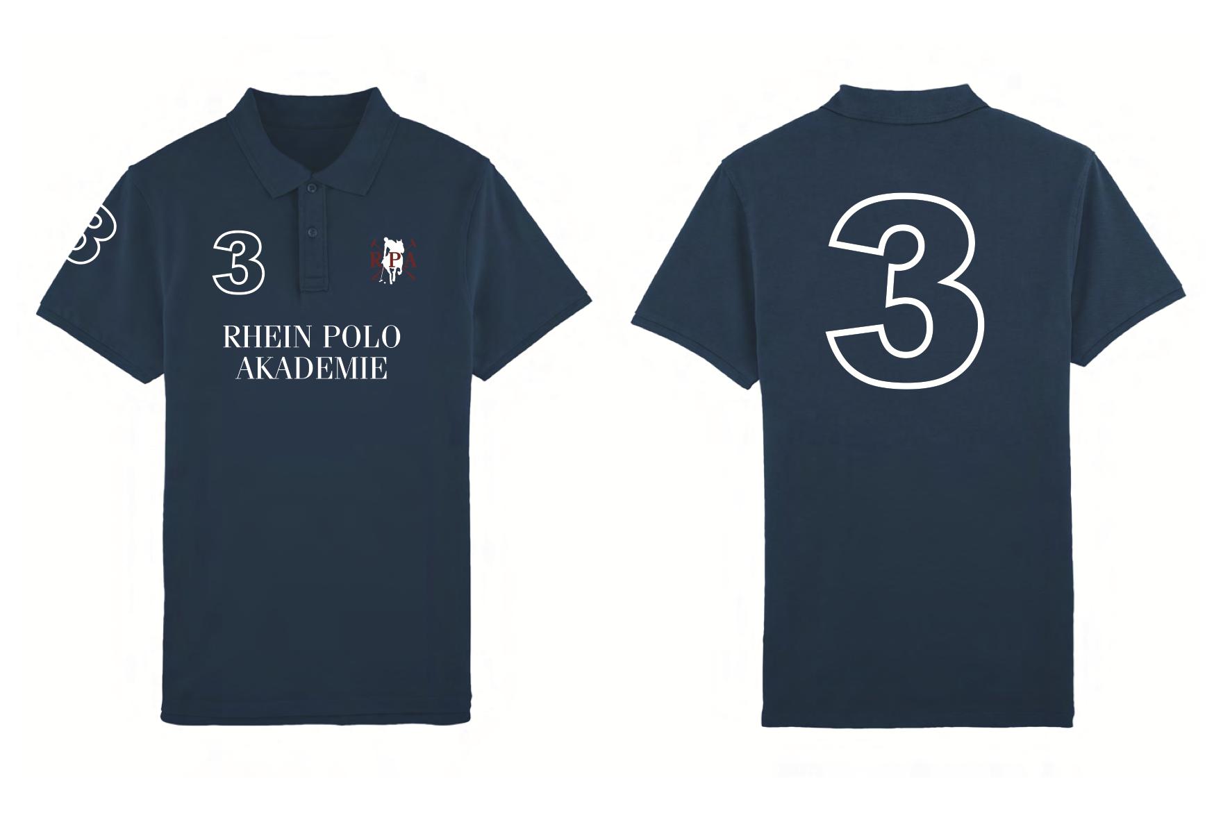 "Herren Polo Shirt ""Rhein Polo Akademie"" navy 00005"