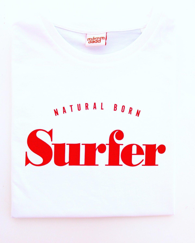 Tee-shirt Natural Born SURFER Rouge