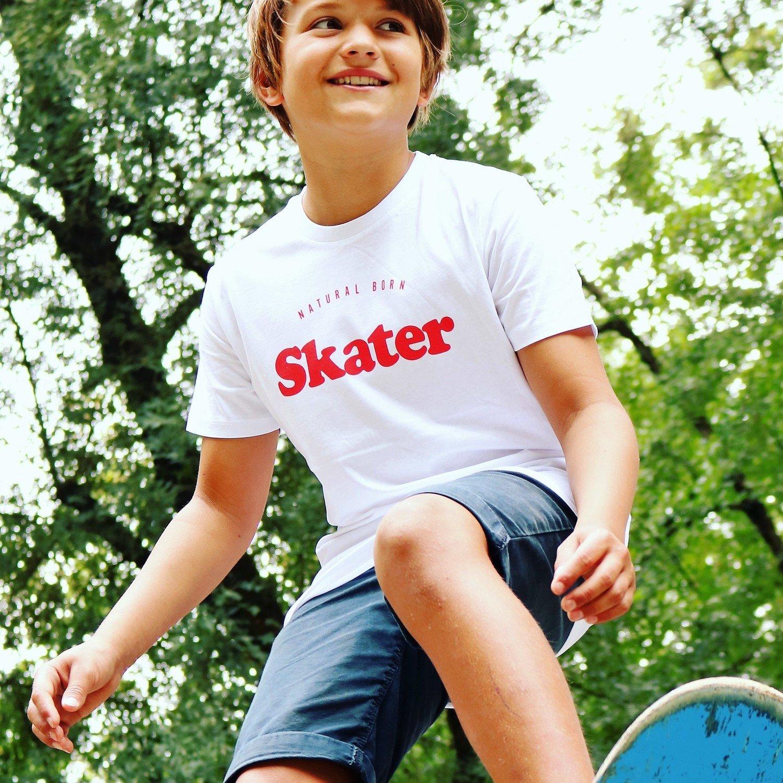 Tee-shirt Natural Born SKATER Rouge