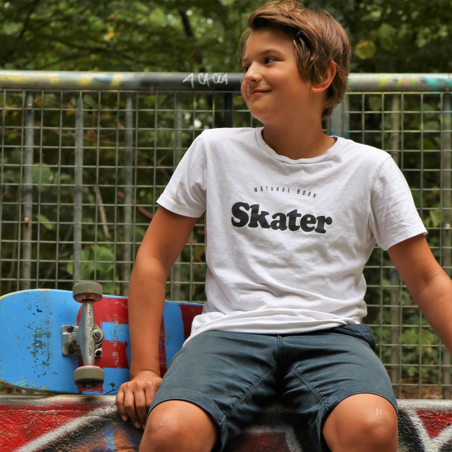Tee-shirt Natural Born SKATER Noir
