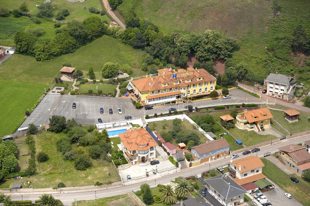 Vista aérea Hotel y Casona