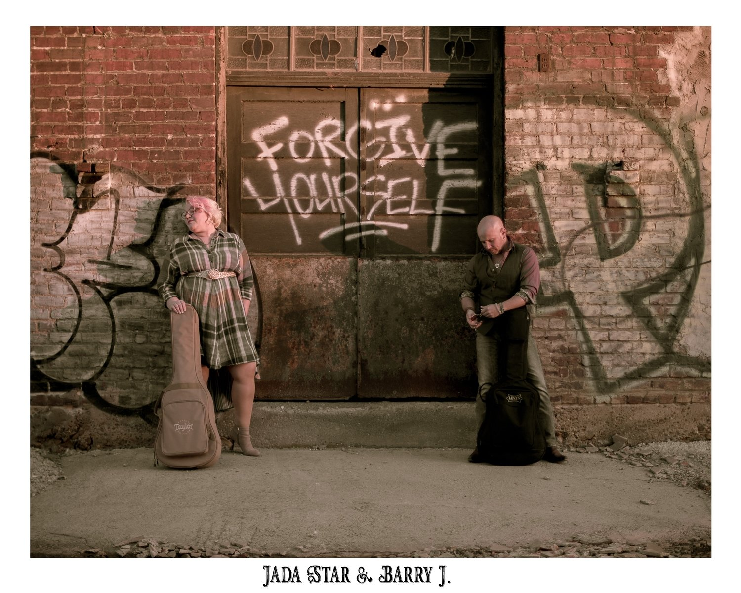 8x10 photo 'Forgive Yourself' signed by Jada & Barry