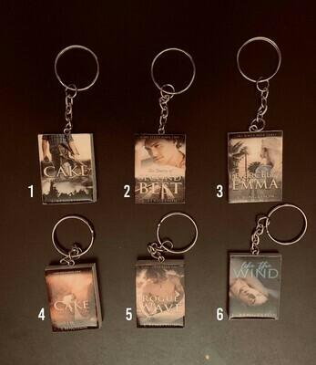 Mini Book Cover Keychain