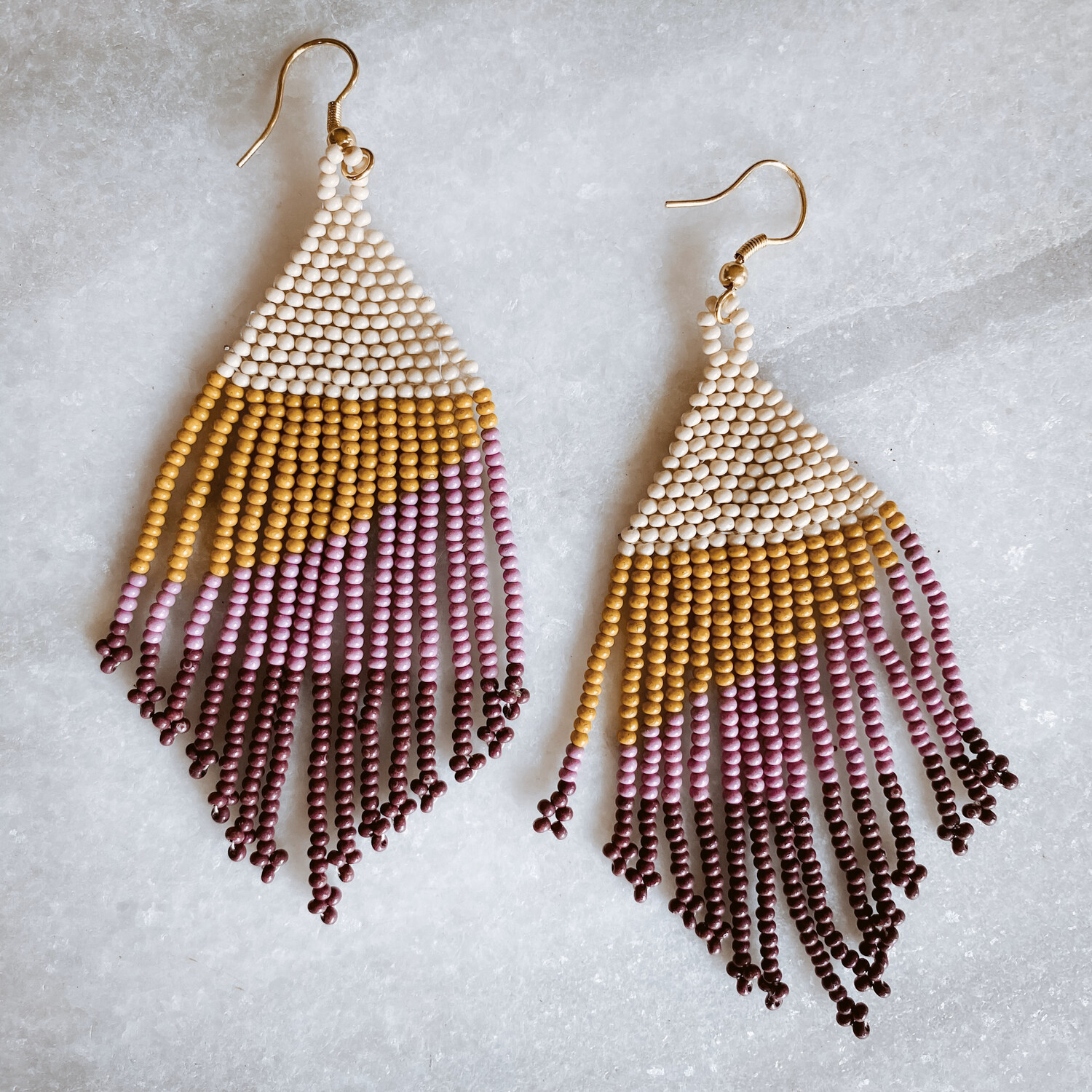 Citron and Lilac Ombre Fringe