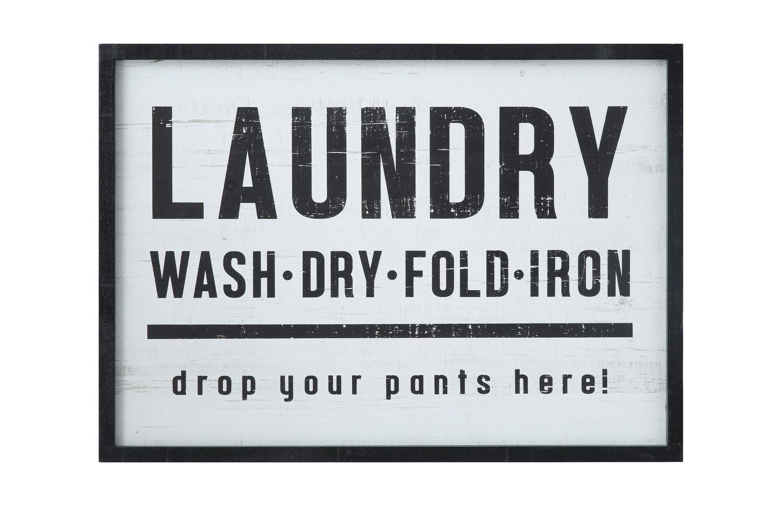 laundry enamel sign df1298