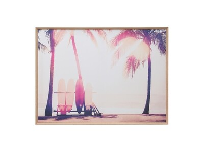 Palm Trees and surf board print df2672