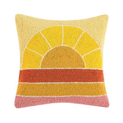 Retro Rainbow Hook Pillow