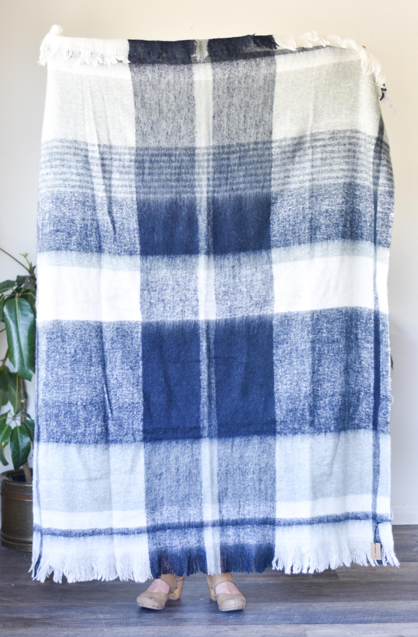 Mohair Blend Plaid Blanket da9839 DBFGDN5JV768J