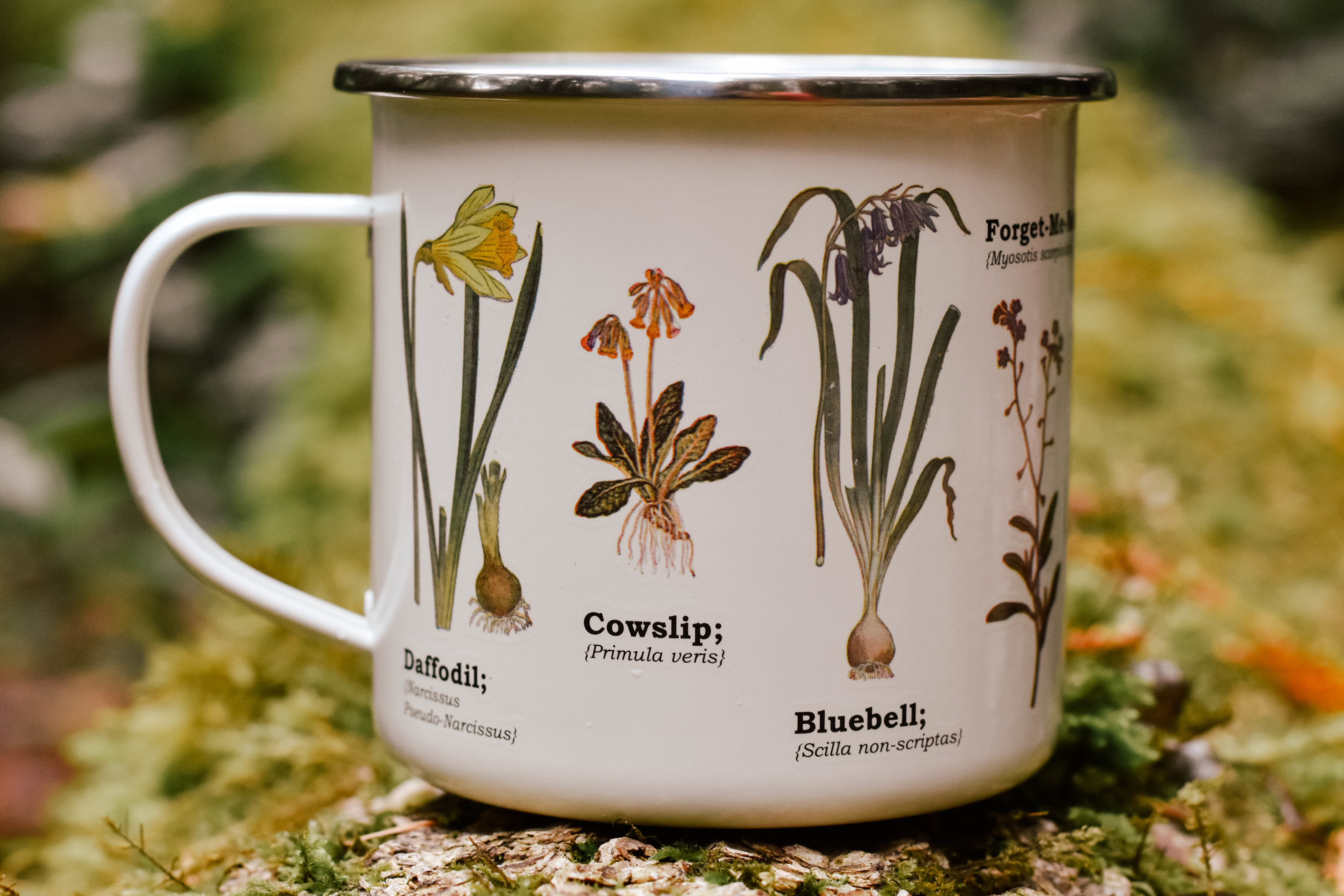 wild flower enamel mug 6Z6XTFREGFFVW