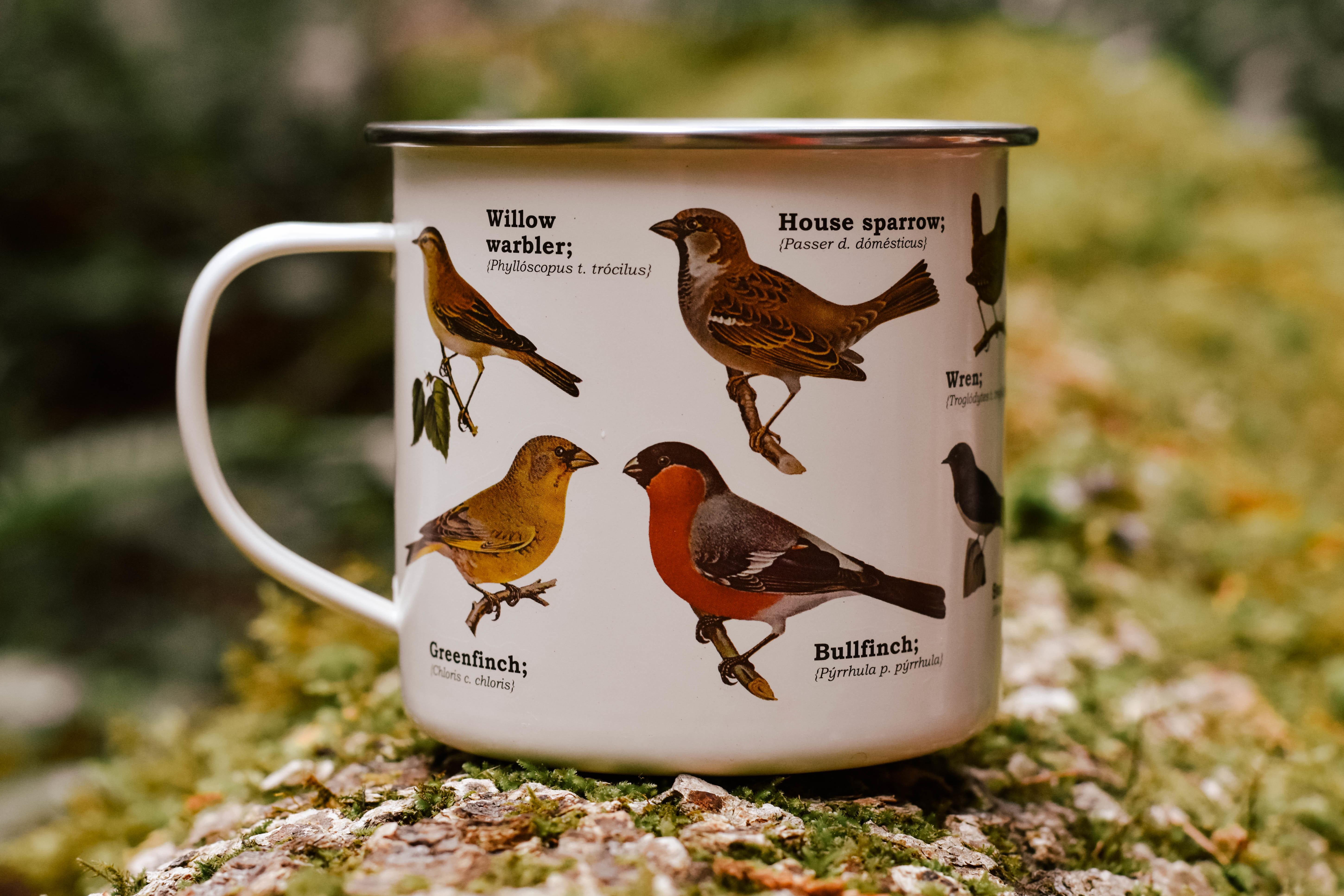 birds enamel mug C710YVD43P55T