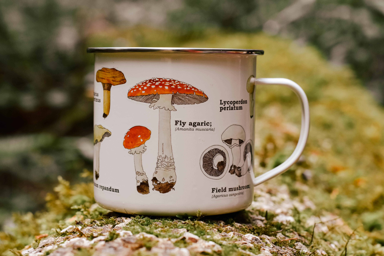 mushroom enamel mug 584FYTJP3KKNT