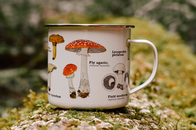 mushroom enamel mugs  584FYTJP3KKNT