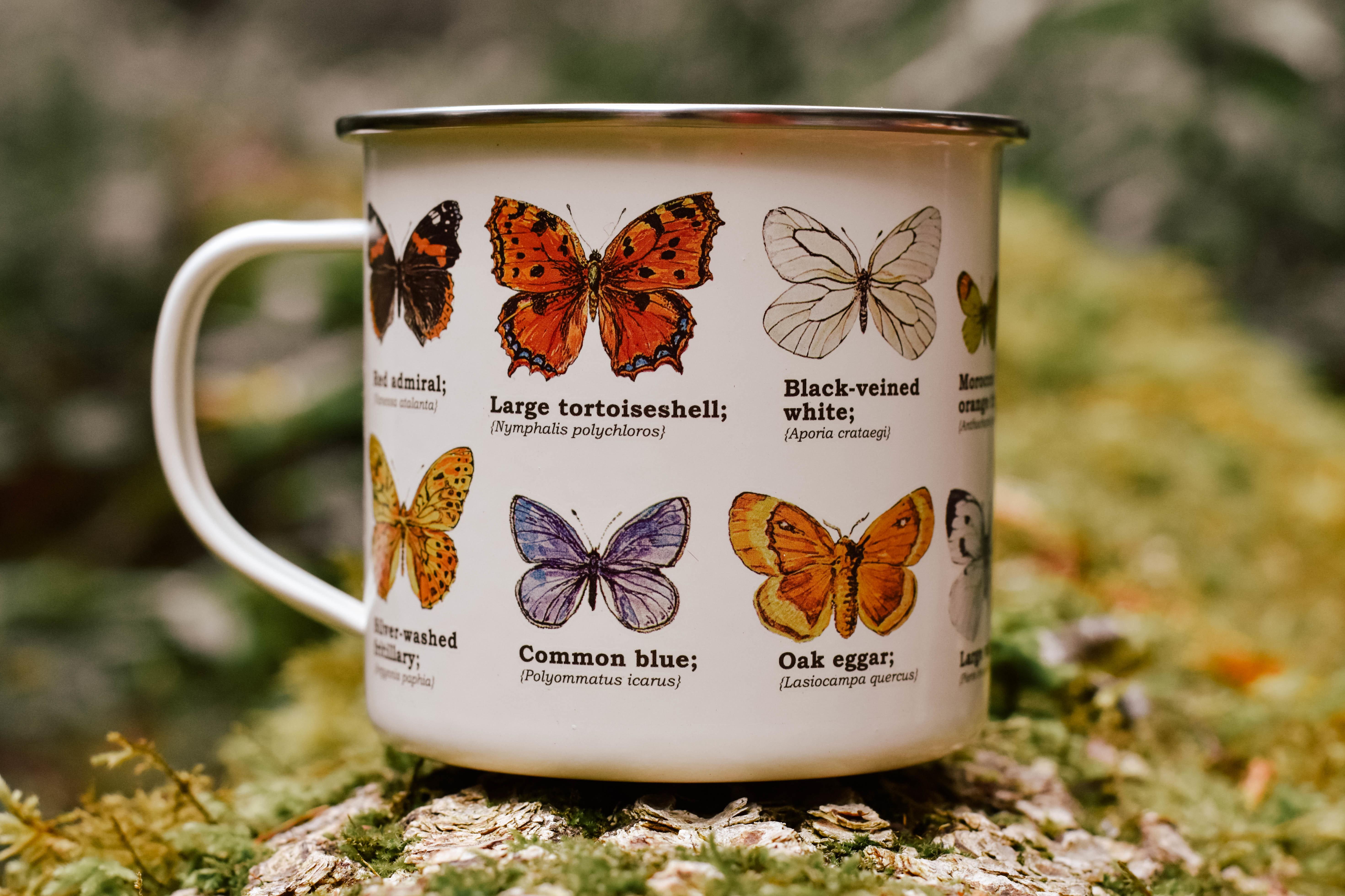 butterfly enamel mug K0WFGT1D40G06