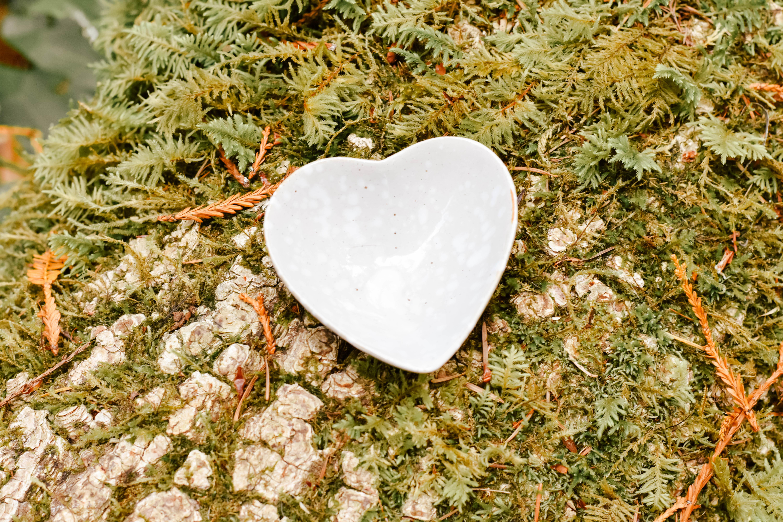 Stoneware heart da8408