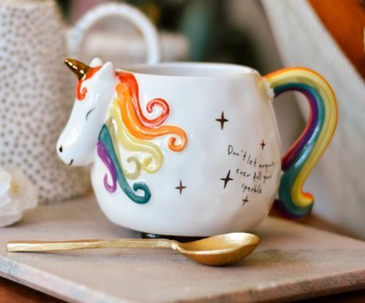folk mug unicorn mug285