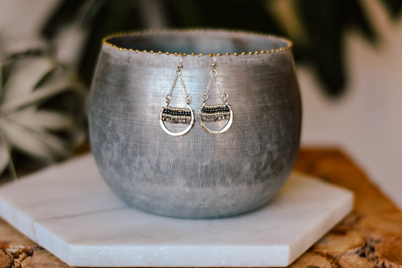 earrings small open round e1082-sch