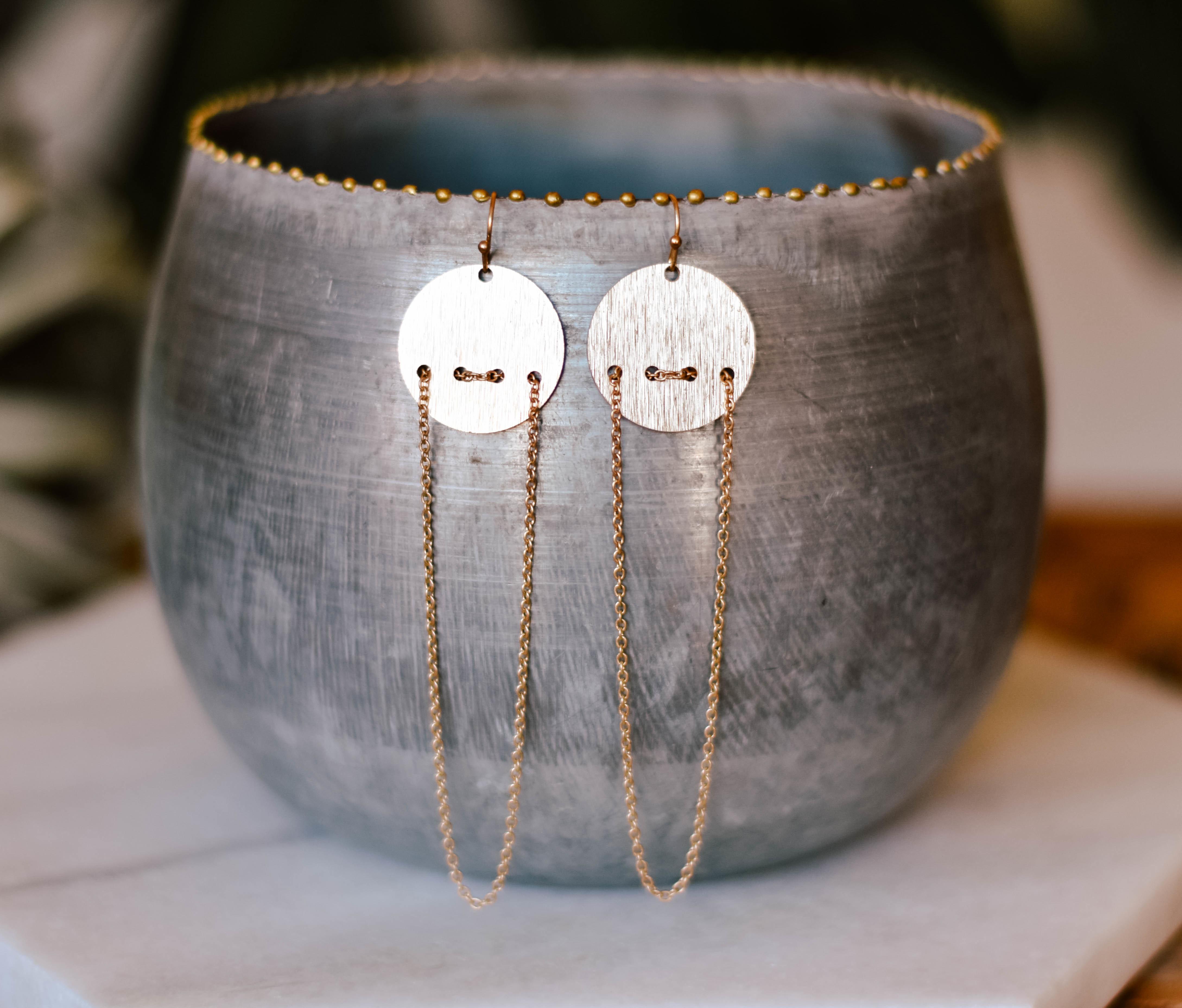 lola chain drop earrings 17552 QN0VSWAGC09DE