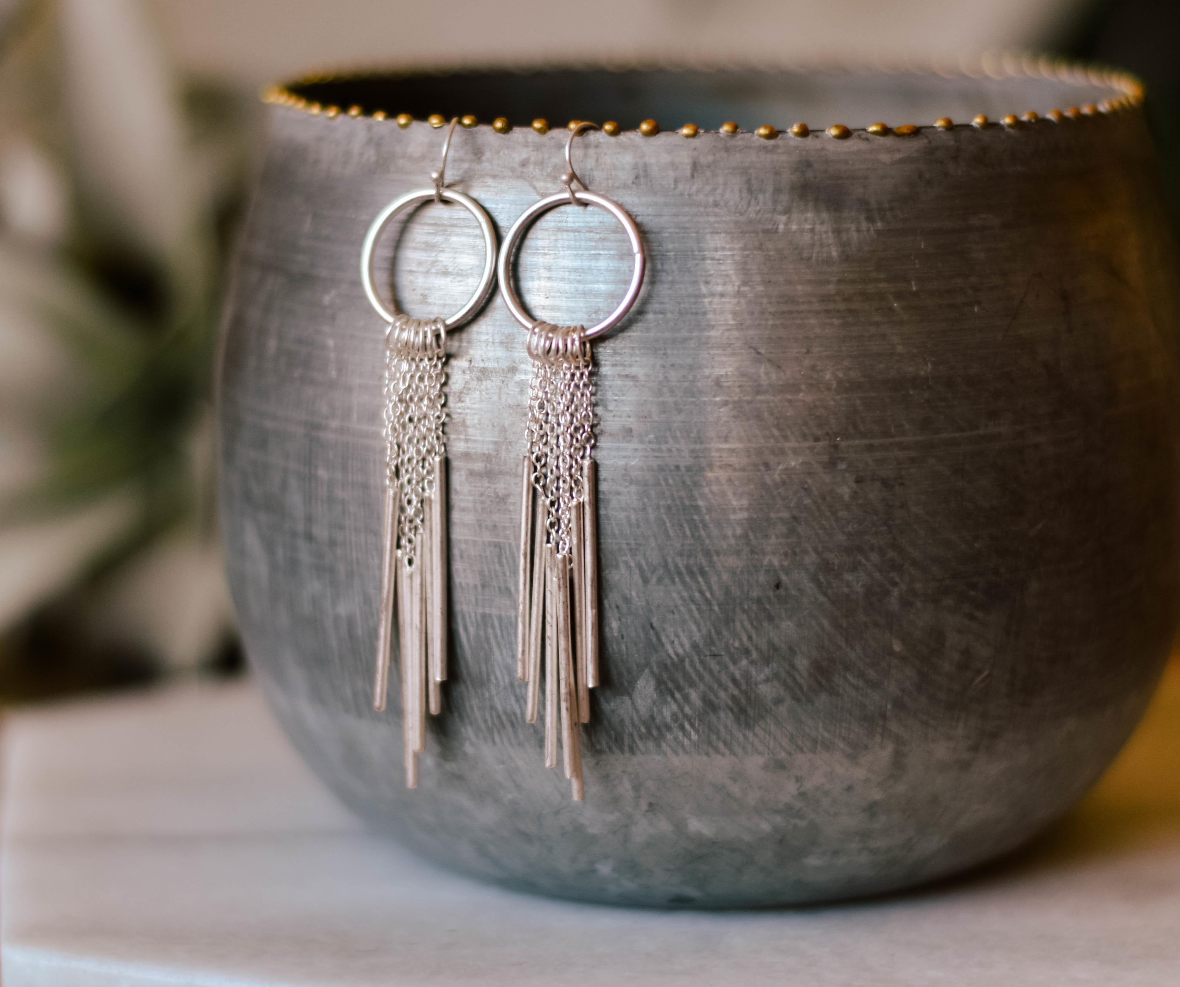 Fea Metal fringe earrings 14310 0Q9KXAWVK58PP