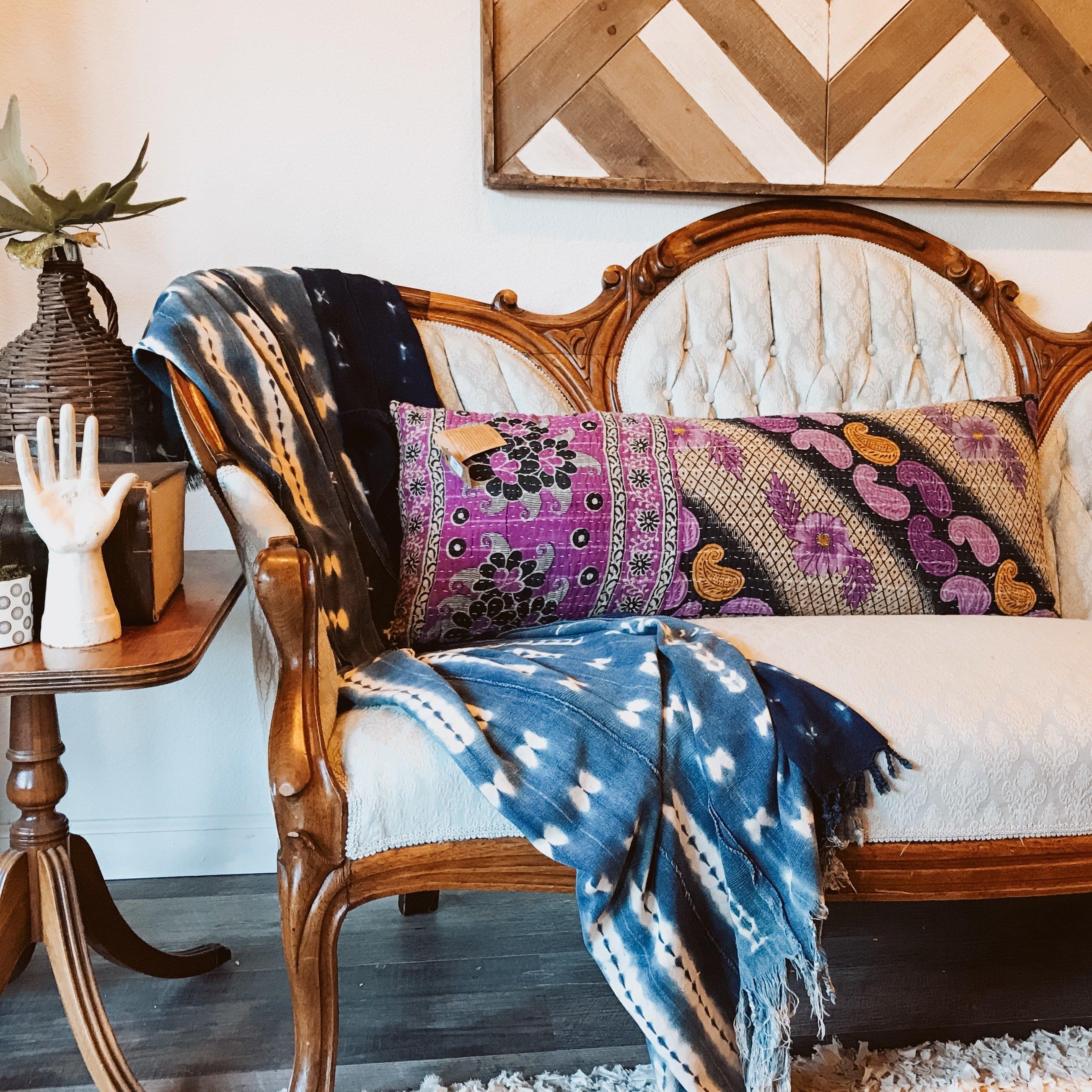 Vintage Kantha Pillow DPH3W0RVB20TE