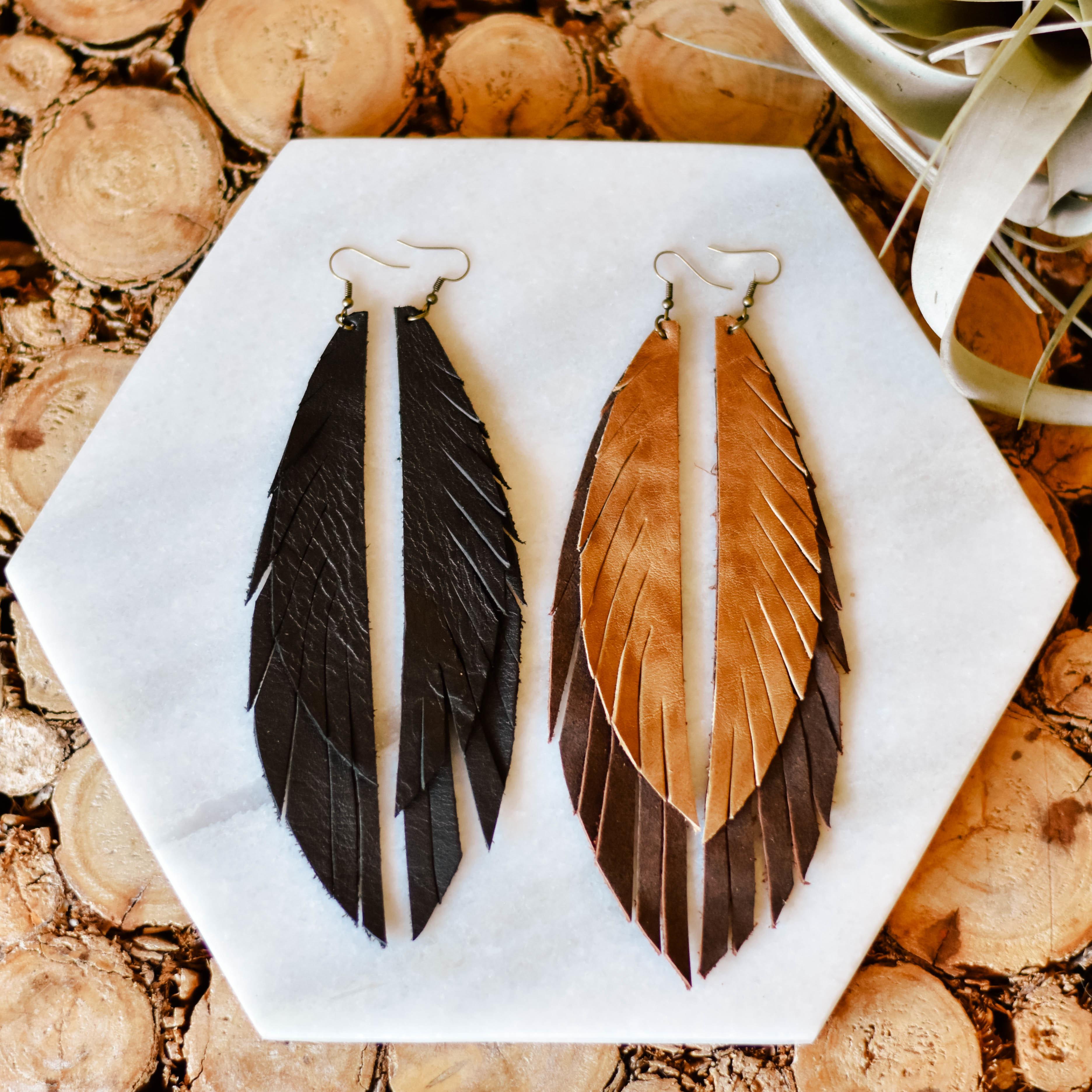 Long Feather Earrings G8JVY8PXJ85FJ