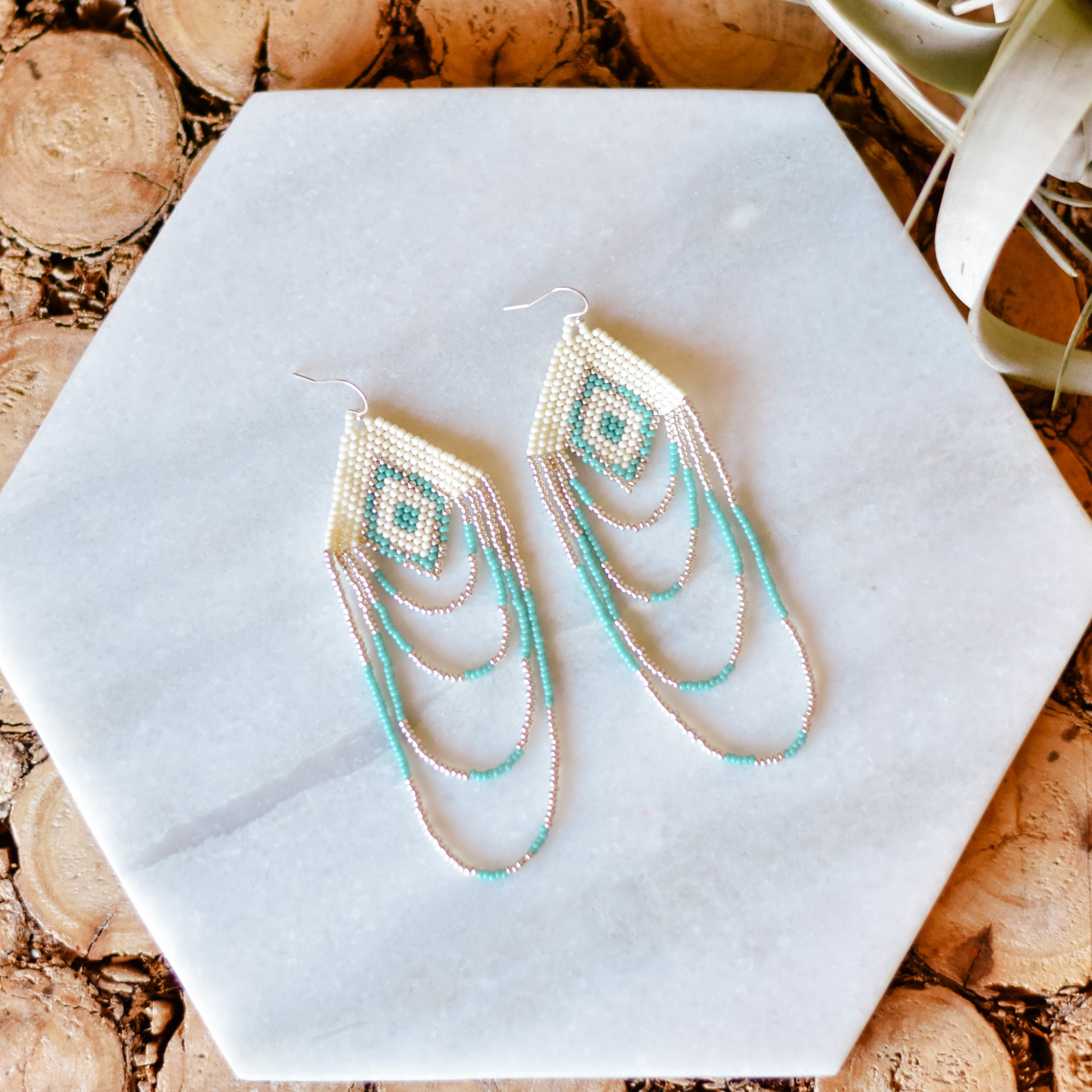 silver + Sea loop earrings