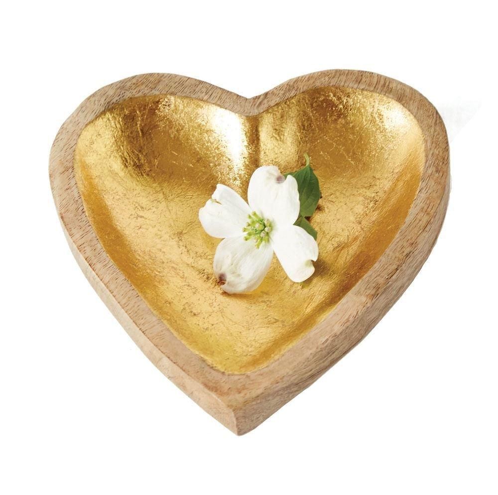 mangowood heart with gold leaf da6467 TR87F2MWCQVYA