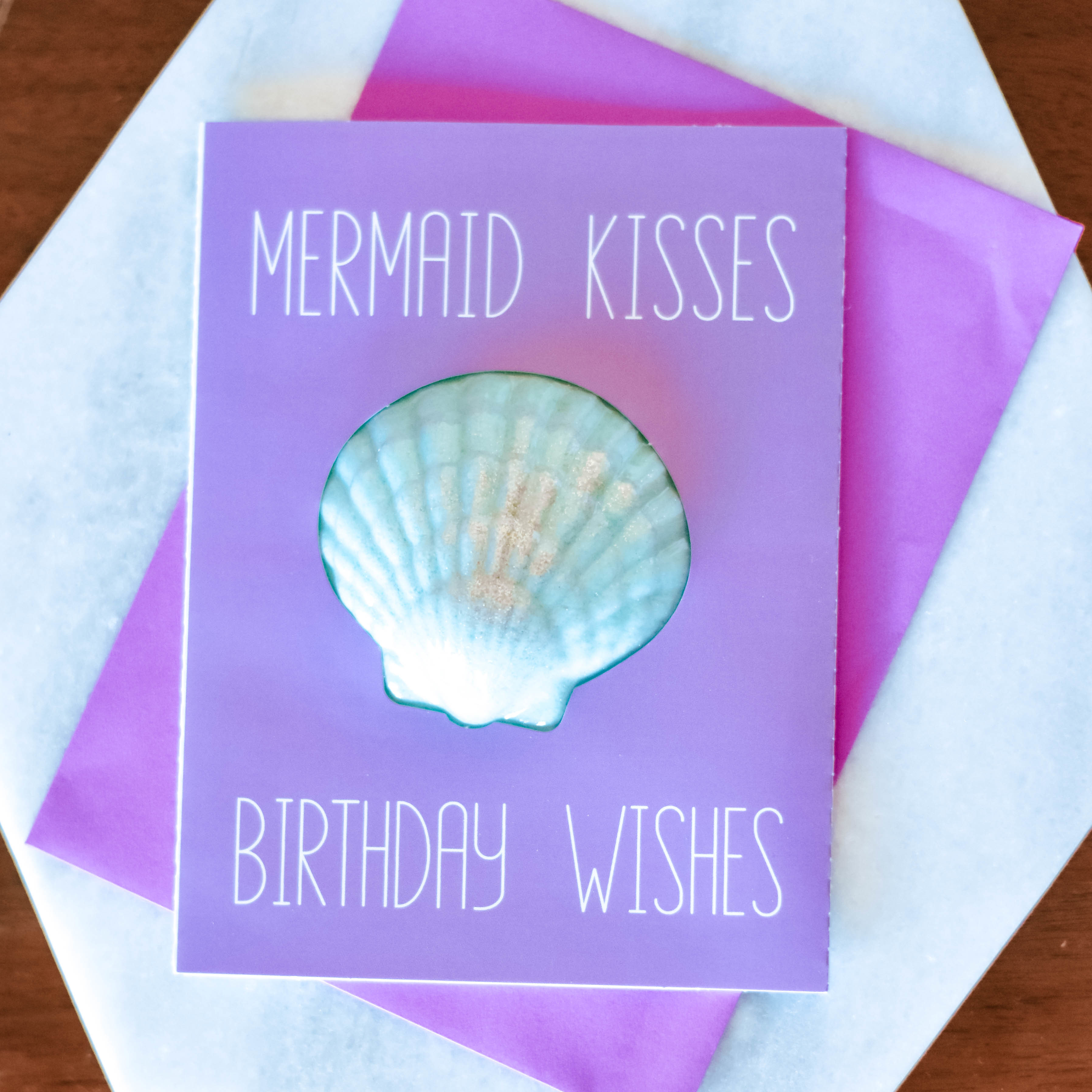 mermaid kisses bath bomb card HZZA7R1JJ1G6R