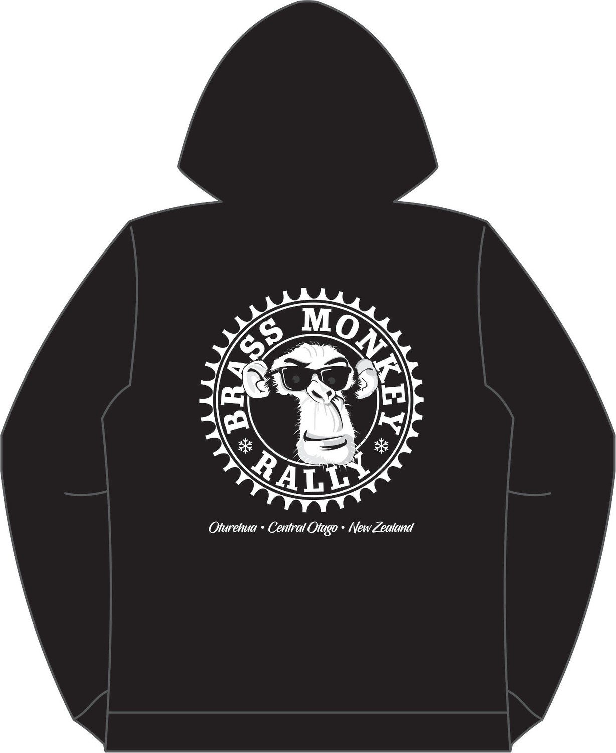 Sprocket Hoodies Zip - Black