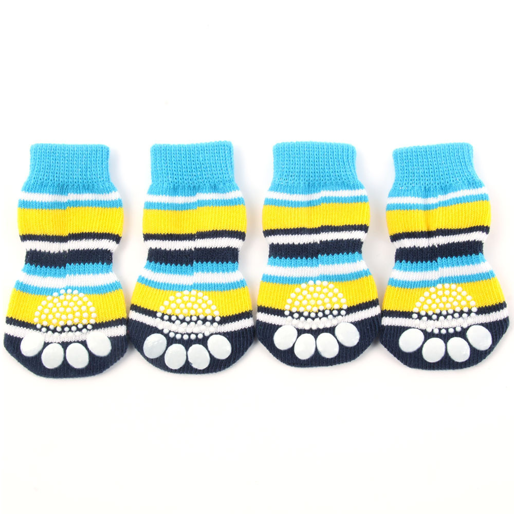 Indoor dog socks - Blue & Yellow
