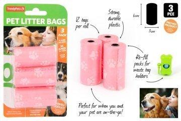 3pc Pet Clean-Up Bags 12pcs Per Bag 00189