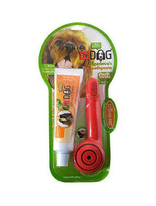 Finger Dog Toothbrush pack