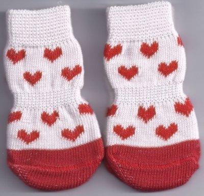 Non-Slip Love Dog Socks ( Large )