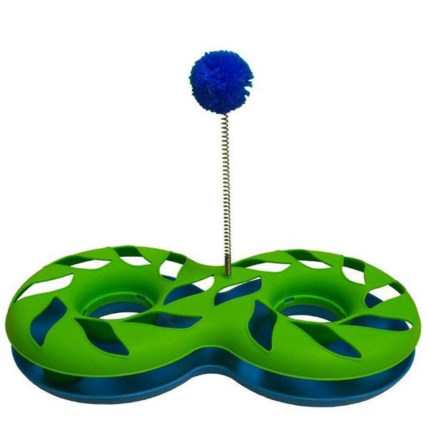 green blue scream cat toy