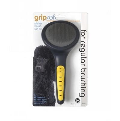 Gripsoft Slicker Brush Soft Pins for Dogs