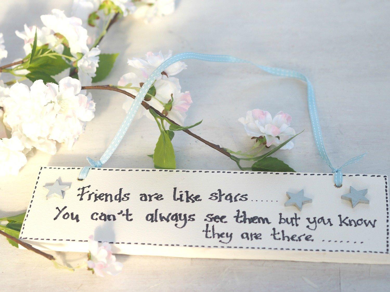 Handmade Friends Are Like Stars Sign