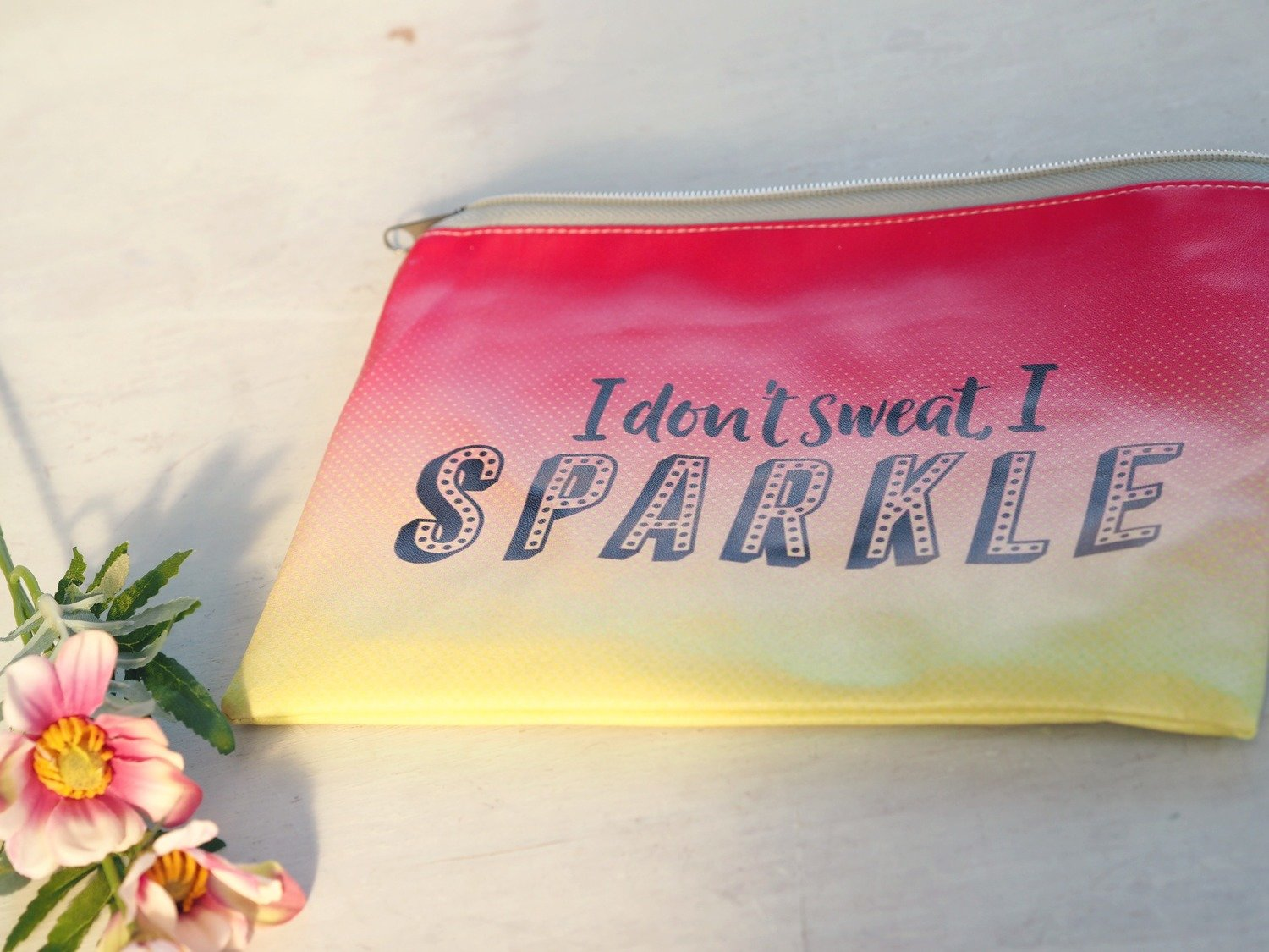 I Don't Sweat I Sparkle Makeup Bag