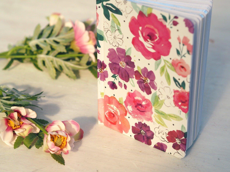 Pink Floral Notebook