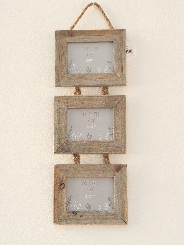 Wooden Triple Photo Frame