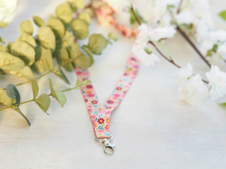 Floral Key Lanyard