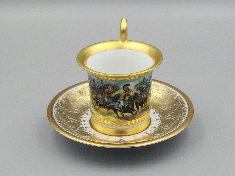 """Чашка """"Саксонцы при Бородино"""""""