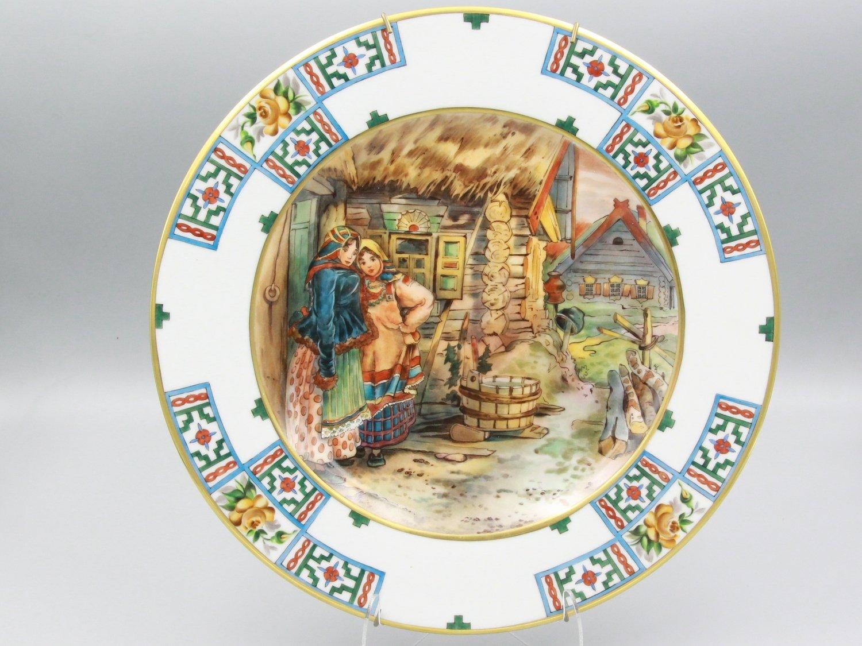 """Декоративная тарелка """"Русские типы"""""""