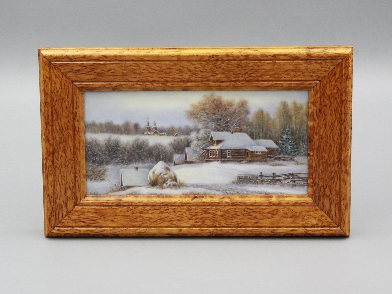 """Настольная плакетка """"Зима"""""""